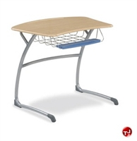 Picture of AILE Sled Base Classroom Student Desk, Book Basket