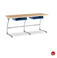 Picture of AILE 2 Student Sled Base Classroom Desk