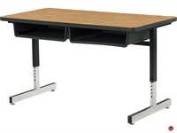 Picture of AILE 2 Student Height Adjustable Height Classroom Desk