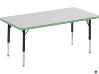 "Picture of AILE 24"" x 48"" Ajustable Height Kids Activity Table"