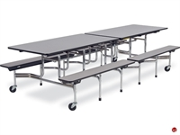 Picture of AILE Mobile Folding Cafeteria Bench Table