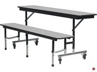 Picture of AILE Mobile Folding Cafeteria Convertible Bench