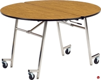 "Picture of AILE 48"" Round Mobile Folding Cafeteria Table"