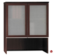"Picture of ADES 36""W Bookcase Overhead Storage with Glass Doors"