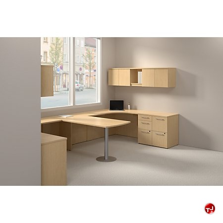 The Office Leader Bush Realize 2 Person Desk Workstation