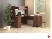 """Picture of Bush Enterprise 60""""W L Shape Corner Desk with Overhead StorageDescription"""