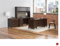 "Picture of Bush Enterprise 72"" Executive Office Desk,Kneespace Credenza Storage,Lateral File"