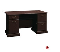 """Picture of ADES 60"""" Double Pedestal Traditional Office Desk"""
