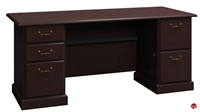 """Picture of ADES 72"""" Double Pedestal Traditional Office Desk"""
