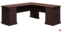 """Picture of ADES 72"""" L Shape Traditional Office Desk Workstation"""