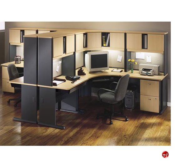 The office leader ades 2 person l shape corner office desk workstation - L shaped desk for two people ...