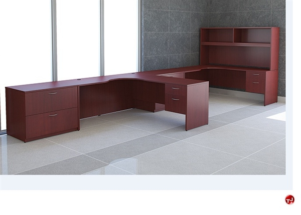 The office leader peblo custom 2 person l shape office desk workstation - L shaped desk for two people ...