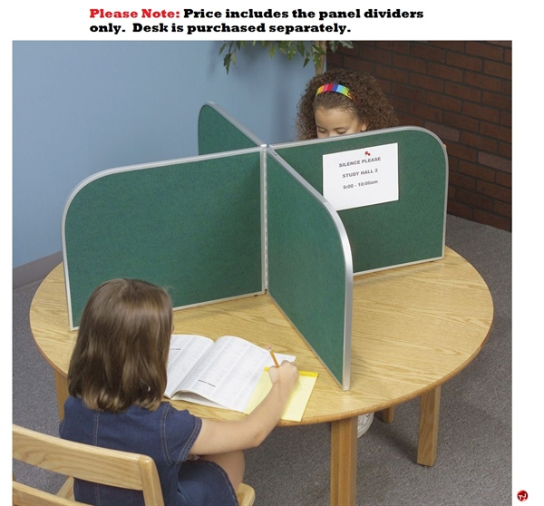 portable cluster of 4 privacy desk panel study carrel - Study Carrel
