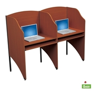Picture of Cluster of 2 Study Carrel, Telemarketing Station
