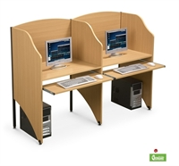 Picture of Cluster of 2 Person Study Carrel, Telemarketing Workstation