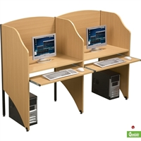 Picture of Cluster of 2 Perston Study Carrel, Telemarketing Workstation