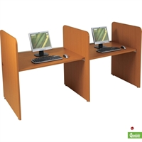 Picture of Cluster of 2 Person Study Carrel Telemarketing Workstation