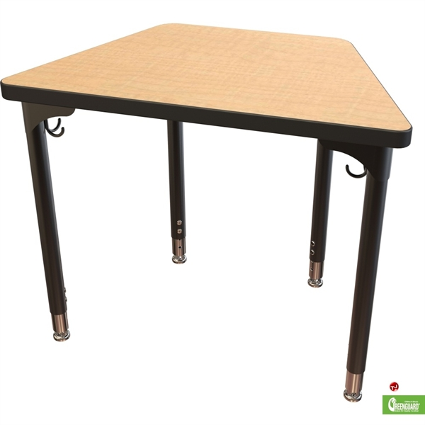 The office leader height adjustable trapezoid school for Trapazoid table