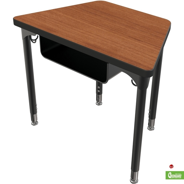 The Office Leader Height Adjustable Trapezoid School Training Table - Adjustable training table