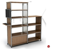 """Picture of Apti 60""""H Adder Double Faced Bookcase Shelving, Steel Frame"""