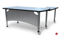 Picture of Apti L Shape Height Adjustable Mobile Teacher's Training Table