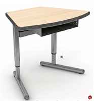 Picture of Apti Height Adjustable Modular Student Training Table, Bookbox