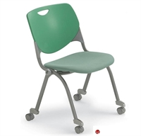 Picture of Bert Mobile Stacking Chair, Armless, Padded Seat