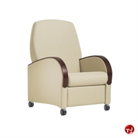 Picture of Healthcare Medical Mobile Recliner, Upholstered Arms