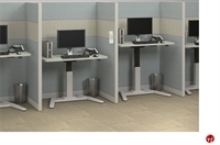Picture of Cluster of 2 Person Height Adjustable Telemarketing Cubicle Workstation