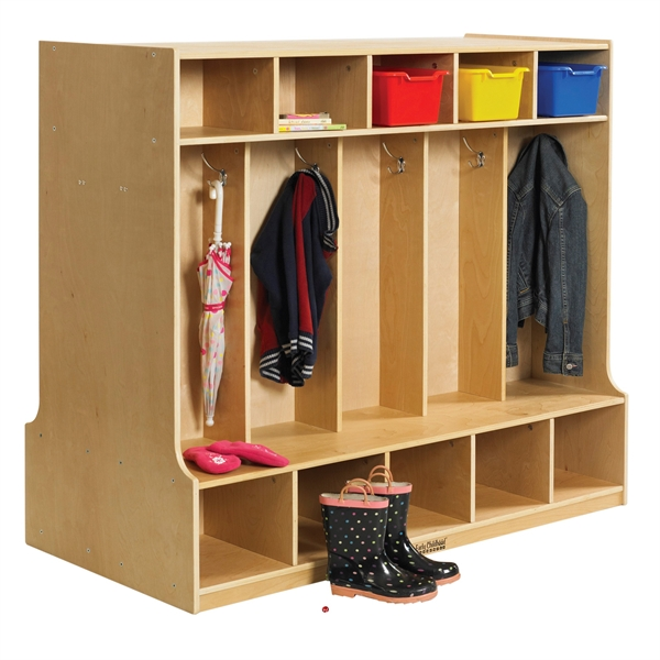 The Office Leader Astor Two Sided Open Shelf Wood Coat Locker