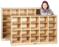 Picture of Astor Open Shelf Wood Storage Locker Cabinet