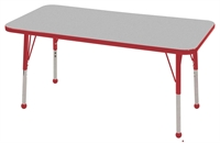 """Picture of Astor 24"""" x 48"""" Height Adjustable School Activity Table"""