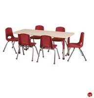 """Picture of Astor 24"""" x 72"""" Height Adjustable Activity School Table"""