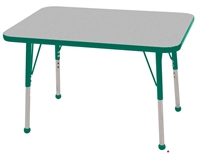 """Picture of Astor 24"""" x 36"""" Height Adjustable School Activity Table"""