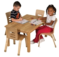 """Picture of Astor 24"""" x 36"""" Rectangular Kids Play Wood Table"""
