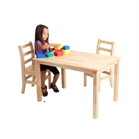 """Picture of Astor 24"""" x 36"""" Kids Play Wood Table"""