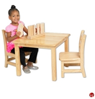 """Picture of Astor 24"""" Square Kids Play Wood Table"""