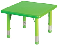 """Picture of Astor 24"""" Square Height Adjustable Activity Resin Table"""