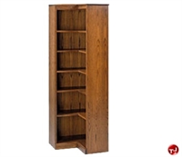 "Picture of Hale 200 Series 72""H 6 Shelf Corner L Shape Open Bookcase"