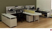 Picture of 2 Person U Shape Office Desk Steel Workstation