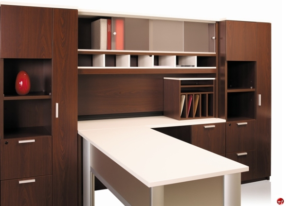 KI Aristotle Contemporary L Shape Office Desk Workstation OverheadWardrobe Storage & The Office Leader. KI Aristotle Contemporary L Shape Office Desk ...