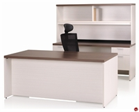 "Picture of KI Aristotle 72"" Executive Desk, Kneespace Credenza with Overhead Storage"