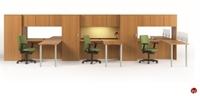 Picture of KI Aristotle 3 Person L Shape Office Desk Workstation, Wardrobes