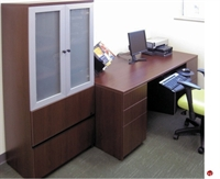 Picture of KI  Aristotle Double Pedestal Desk, Glass Door Lateral File Storage