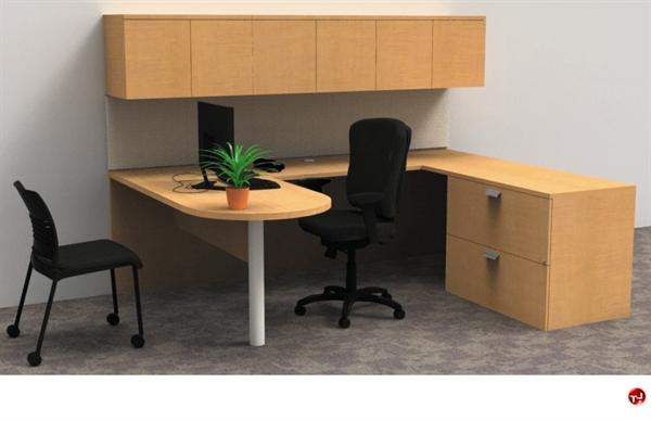 Ki Aristotle U Shape D Top Office Desk Workstation Wall Mount Storage
