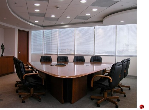 The Office Leader KI Darwin Veneer Triangle Conference Desk - Triangle conference table