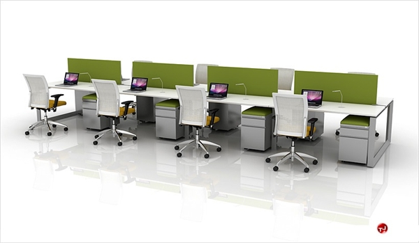8 Person Bench Seating Teaming Desk Workstation