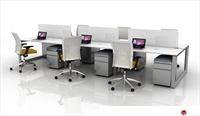 Picture of 6 Person Bench Seating Teaming Office Desk Workstation