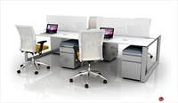 Picture of 4 Person Bench Seating Office Desk Teaming Workstation