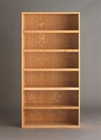 "Picture of DEVA 72""H Open Shelf Chemical Wood Bookcase Storage"
